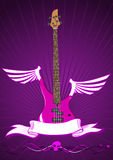 Vector illustration of modern bass guitar Royalty Free Stock Photo