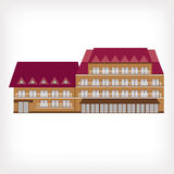 Vector illustration of modern building Royalty Free Stock Photo