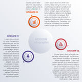 Vector illustration Modern Infographic diagram business steps fo Stock Photography