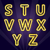 Vector illustration of modern lighting alphabet Royalty Free Stock Photography