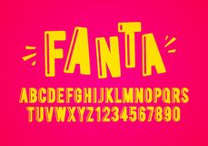 Vector Illustration Modern Playful Fun Font And Alphabet. Vector Illustration Cool Modern Playful Fun Font And Alphabet royalty free illustration