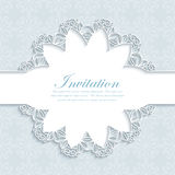 Vector illustration of a modern wedding invitation Royalty Free Stock Image
