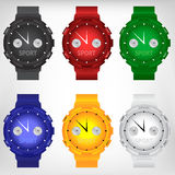 Vector illustration of modern wristwatch Stock Photography
