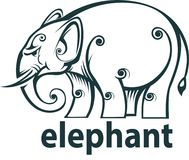 Elephant icon or symbol Royalty Free Stock Photos