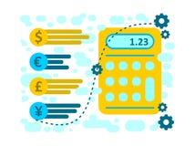 Vector illustration money bills and coins Cash Icon in flat design. Vector illustration money bills and Cash Icon in flat design Stock Images