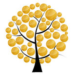 Vector illustration of a money tree with coins . Stock Photo