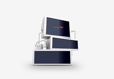 Vector illustration of monitors. Vector illustration of big monitors Royalty Free Stock Photos