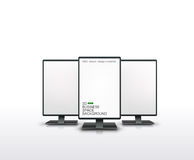Vector illustration of monitors Stock Image