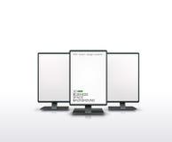 Vector illustration of monitors. Vector illustration of 3 vertical monitors Stock Image