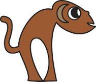 Vector illustration of a monkey. Vector illustration of a stylized  monkey Stock Photos