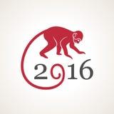 Vector illustration of monkey Stock Image