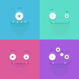Vector illustration of monster faces Royalty Free Stock Photography