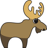 Vector illustration of a moose. Vector illustration of a stylized  moose Stock Images