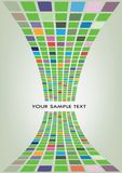 Vector illustration of mosaic background. With black text Stock Photo