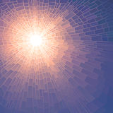 Vector illustration mosaic of sun with rays. Royalty Free Stock Photos