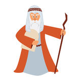 Vector illustration of Moses standing for Passover. Stock Photo