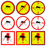 Vector illustration mosquito icons Royalty Free Stock Photo