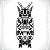 Vector illustration of a mountain goat Royalty Free Stock Images