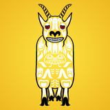 Vector illustration of a mountain goat Royalty Free Stock Photo