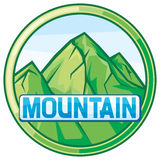 Vector illustration of mountain landscape Stock Photography