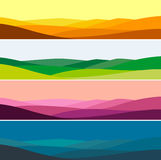 Vector illustration of mountain landscape in time of day. Vector color illustration of mountain landscape in time of day Royalty Free Stock Photography