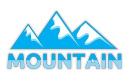 Mountain sign Stock Image