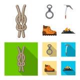 Vector design of mountaineering and peak logo. Set of mountaineering and camp stock symbol for web. Vector illustration of mountaineering and peak icon stock illustration