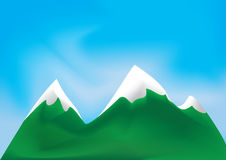 Vector illustration of mountains. Vector illustration of white green mountains Royalty Free Stock Photos