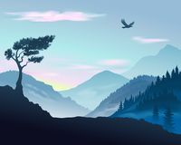 Vector illustration of mountains royalty free illustration