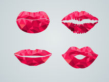 Vector illustration of  mouth. Royalty Free Stock Photography