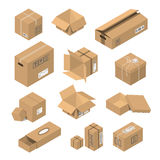 Vector illustration moving box isometric isolated. Royalty Free Stock Photos