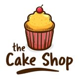 The Muffin Cake Shop icon Logo. Vector illustration of muffin cupcake shop logo icon, with cherry on top Royalty Free Stock Photo