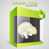 Vector illustration of mushrooms in packaged Stock Photography
