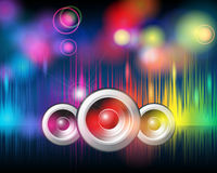 Music background with glittering rainbow lights Royalty Free Stock Photos