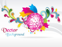 Vector illustration for music with disco ball Stock Photography