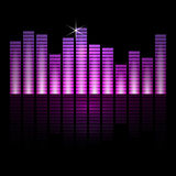 Vector illustration of music equalizer bars on Royalty Free Stock Photo