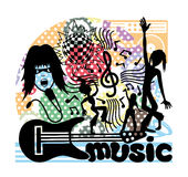 Vector illustration. Music. Royalty Free Stock Photo