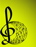 Vector illustration of music theme Stock Images
