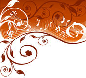 Vector illustration of music theme Stock Photography