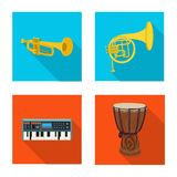 Vector design of music and tune sign. Collection of music and tool stock symbol for web. royalty free illustration