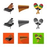 Vector design of music and tune symbol. Collection of music and tool stock symbol for web. stock illustration