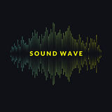 Vector illustration of music wave in the form of the equalizer Royalty Free Stock Photography