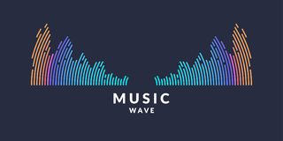 Vector illustration of music wave in the form of the equalizer Stock Images