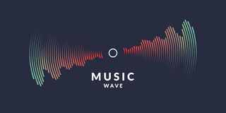 Vector illustration of music wave in the form of the equalizer Royalty Free Stock Photos