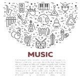 Vector illustration of musical instruments Stock Photos