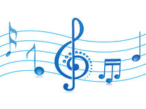 Vector illustration musical notes Stock Images