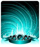 Vector illustration for a musical theme Royalty Free Stock Images