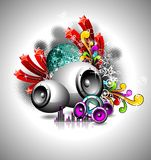 Vector illustration for a musical theme royalty free stock photos