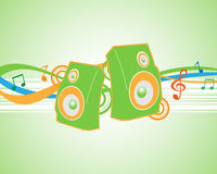 Vector illustration musical theme Royalty Free Stock Photo