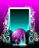 Vector illustration for musical theme Royalty Free Stock Image